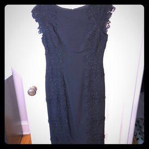 Maggy London lace crepe sheath dress (tea length)